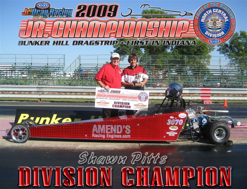 Shawn Pitts 2009 Jr. Dragster Division 3 Champion